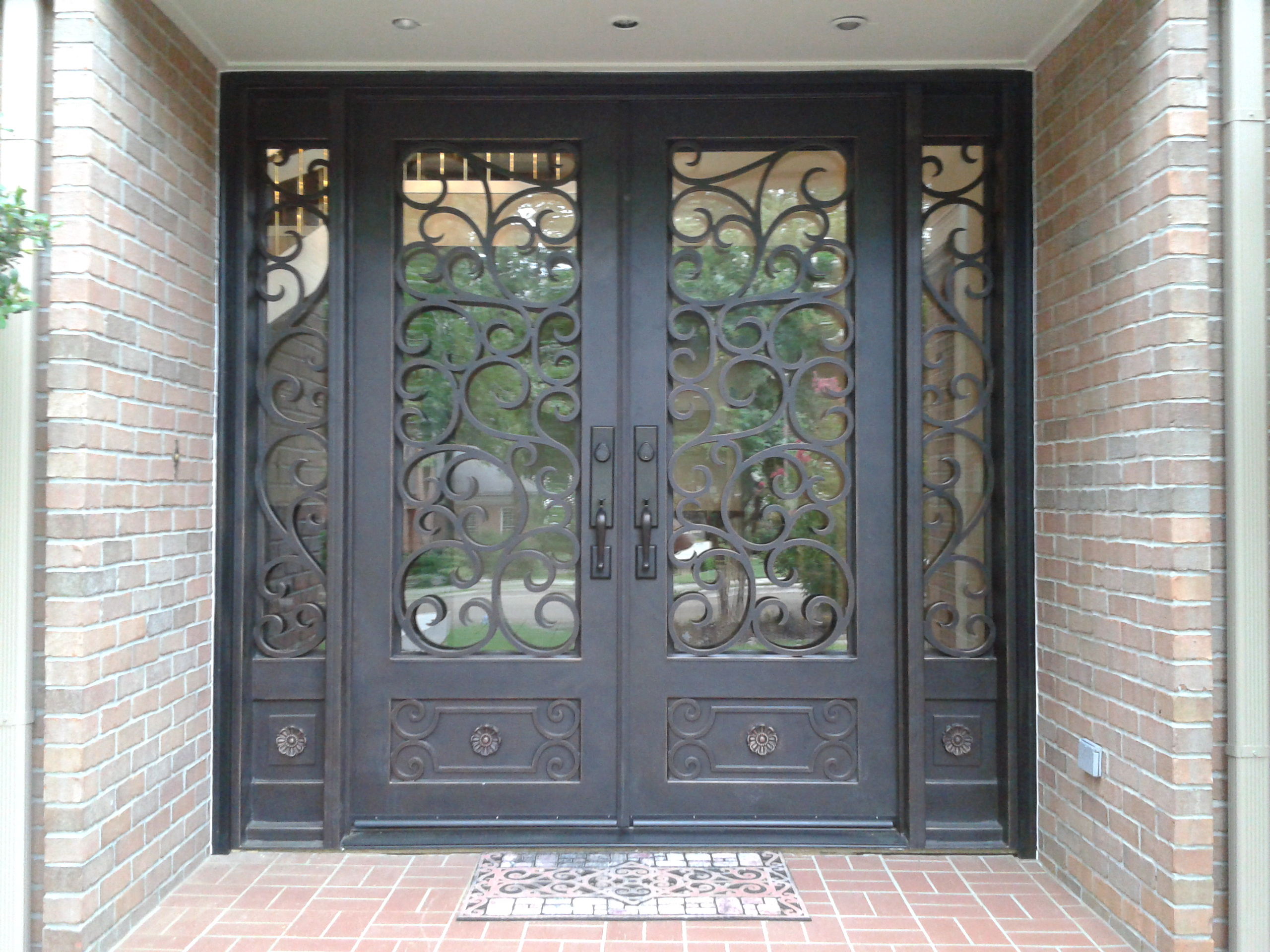 1920 #5E5040 Around And Look At Your Door And Think 'hm I Think An Iron Door  image Iron Entrance Doors 38932560